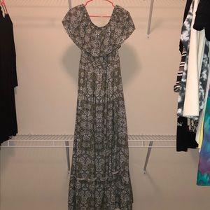 Francesa's Green maxi dress NWT